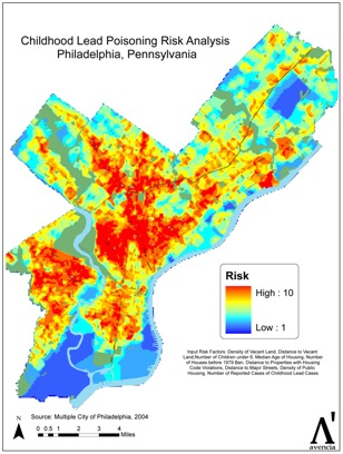 Lead Abatement Resource Center Lead Concentration Of US Cities - Us map philadelphia pa